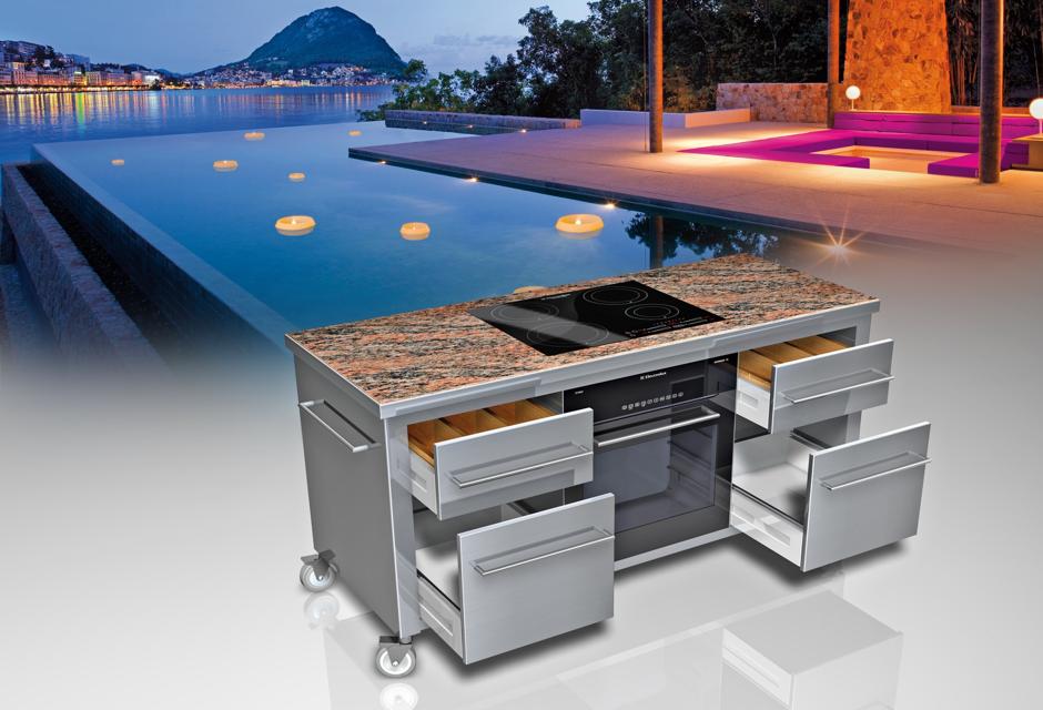 edelstahlk che haus design und m bel ideen. Black Bedroom Furniture Sets. Home Design Ideas